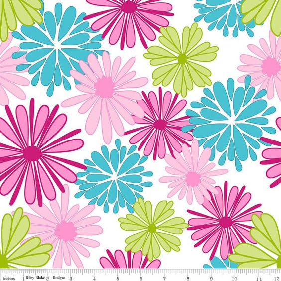 FLORIOGRAPHY  Main in Pink c3940  Riley Blake by MoonaFabrics