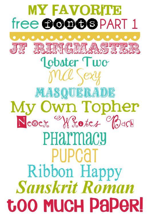 More Free Fonts! #fonts