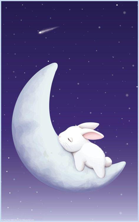 Sleeping bunny by Oborochann