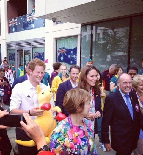 Prince Harry with Kate at the Olympics