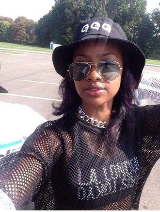 shirt black cute hat bucket hat trendy fashion new york city sunglasses