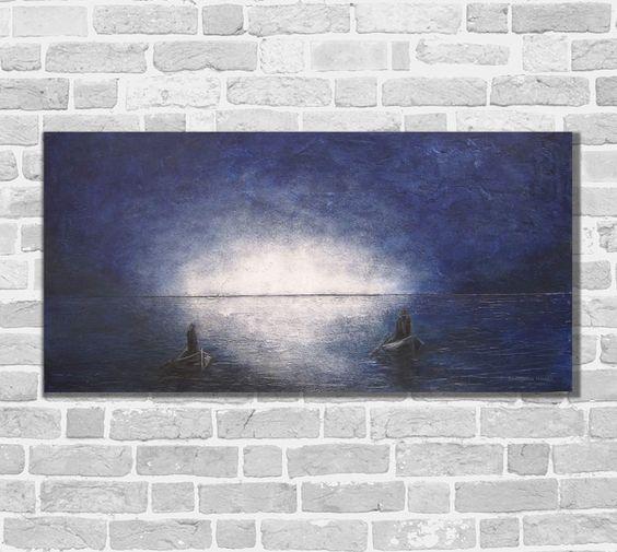 Kunstgalerie Winkler Abstrakte Acrylbilder Malerei Maritim Unikat Bilder Neu