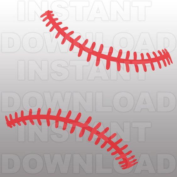 Baseball Stitches Pattern Svg File Cutting Template Clip