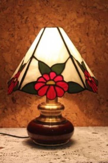 lamparas vidrio tiffany pantalla de 5 paneles de vidrio con flor vidrio  estaño…
