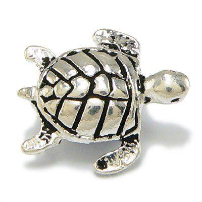 Turtle Charm - Sea Turtle Charm - Fits Pandora Charm Bracelet Charm Necklace - Silver Plated