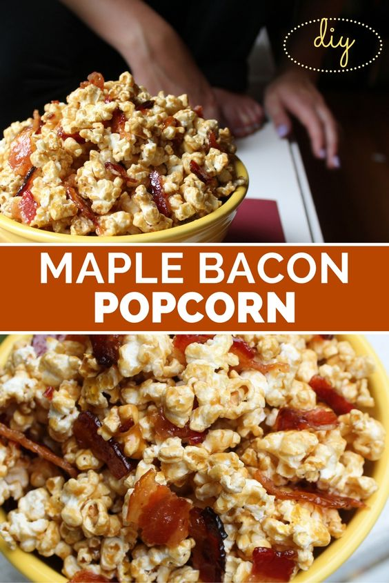Bacon popcorn, Maple bacon and Popcorn on Pinterest