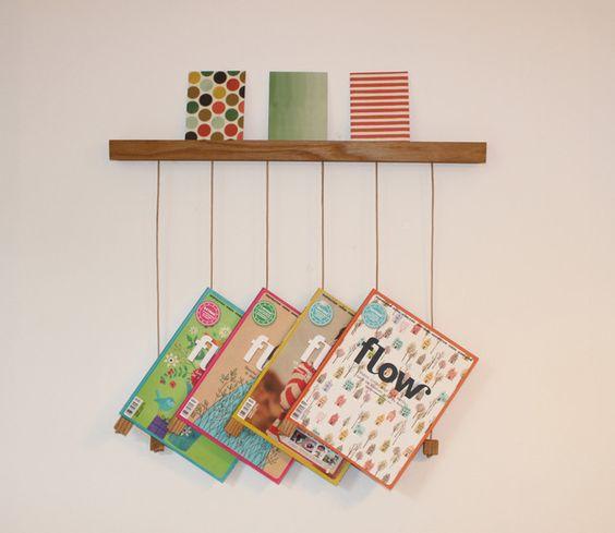 hängeHOLZ - Zeitschriftenhalter aus Eichenholz
