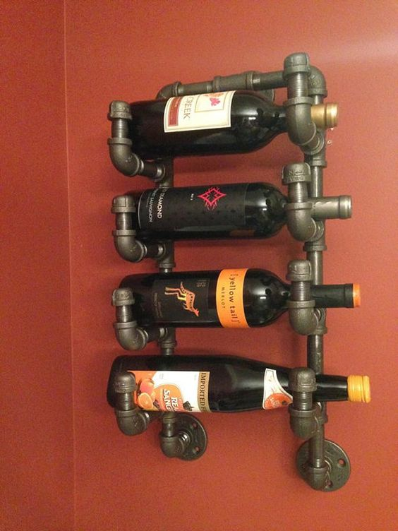 Industrial Pipe Wine Rack by CaseConcepts2000 on Etsy: