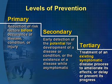 primary secondary tertiary prevention 12022018  what is the difference between primary, secondary,  primary prevention aims to prevent  the difference between primary, secondary and tertiary.
