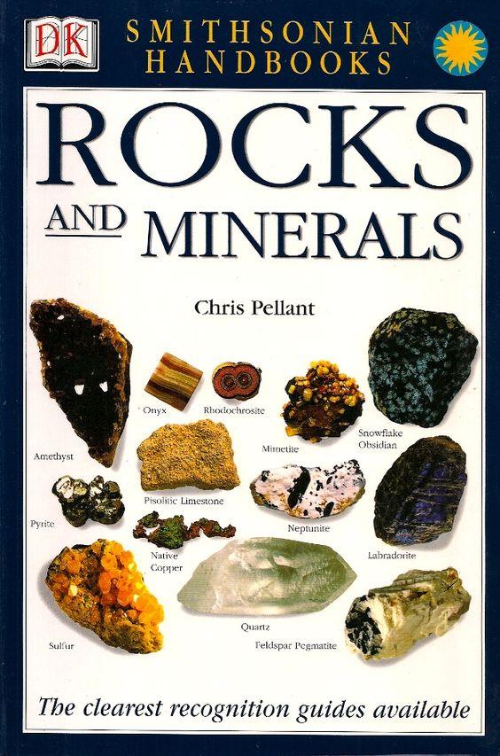 PELLANT, Chris. Rocks and minerals. Fotografias por Harry Laylor, Consultoria editorial por Helen Pellant. Nova York: Dorling Kindersley, 2002. (Eyewitness handbooks, 1). Inclui índice; Contém glossário; il. color.; 22x15cm. ISBN 9780789491060.  Palavras-chave: ROCHAS/Manuais, manuais, etc.; MINERAIS/Manuais, manuais, etc.; IDENTIFICACAO DE ROCHAS/Manuais, manuais, etc.; IDENTIFICACAO DE MINERAIS/Manuais, manuais, etc..  CDU 548/549 / P385r / 2002