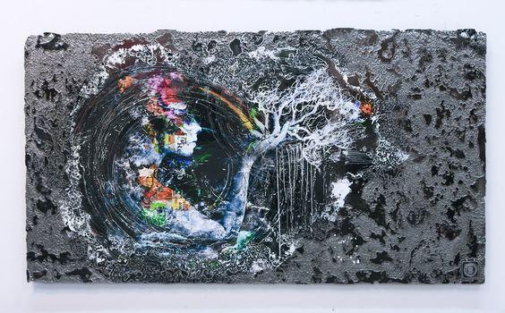 Maia - Oeuvre sur acier / Artwork on steel on Behance