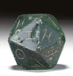 Maxima plaga! - Romans Used 20-Sided Dice Two Millennia Before D -leider falsch, das ist ein römisches Gewicht für eine Tellerwage