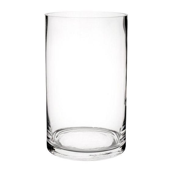 Zylindervase aus Glas, H 20cm
