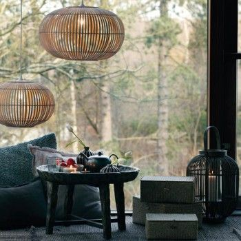 Suspension zep bambou naturel euro natural and copenhagen - Suspension luminaire bambou ...