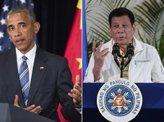 """(Daily Mail) – Philippine President Rodrigo Duterte called Barack Obama a """"son of a whore"""" on Monday as he vowed not to be lectured by the US leader on human rights when they meet in Laos. The acid-tongued Duterte bristled at warnings he would face questioning by the US president over a war against drugs ..."""