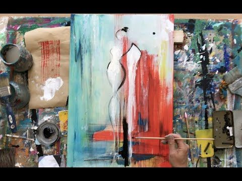 Abstract Painting Learning To Paint Acrylic Beginners