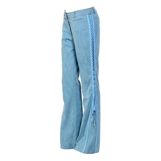 Vintage 90's Christian Dior by John Galliano Sexy Flair Jeans   1stdibs.com