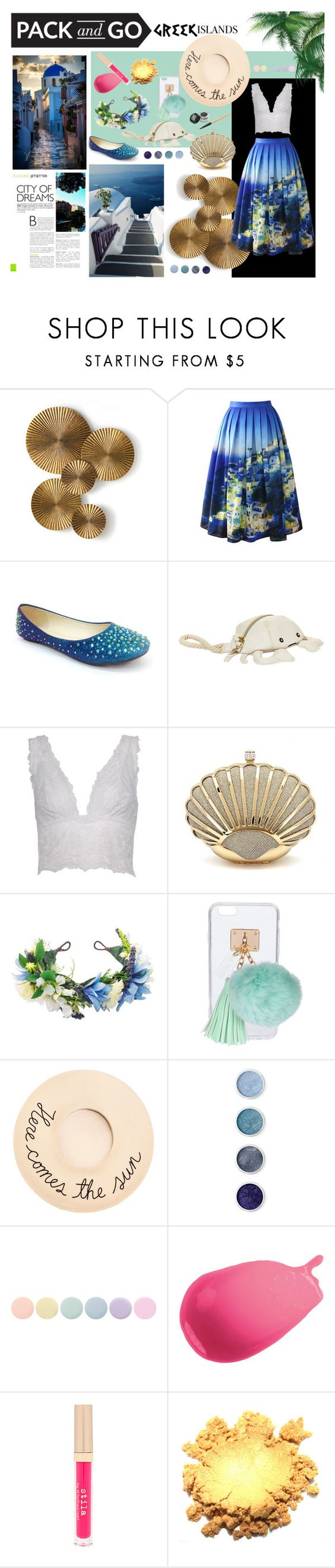 """Greek Isle of Mystery"" by mysterekitty on Polyvore featuring Arteriors, Chicwish, Bamboo, Betsey Johnson, Donna Karan, Ashlyn'd, Eugenia Kim, Terre Mère, Deborah Lippmann and Lancôme"