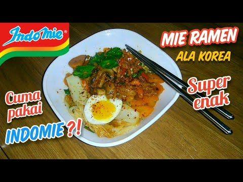 Bikin Mie Ramen Super Enak Extra Pedas Ala Korea Cuma Pakai Indomie Goreng Jamur Kancing Boncabe Youtube Resep Masakan Jamur Kancing Jamur