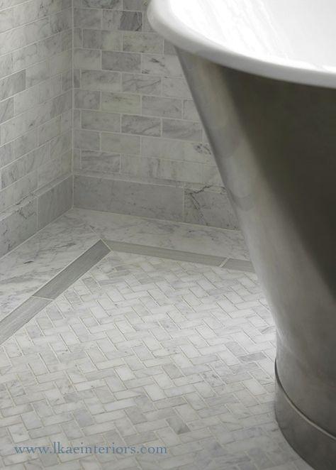 53 Trendy Ideas For Bathroom Floor Herringbone Marble Showers In 2020 Marble Showers Bathroom Flooring Shower Tile