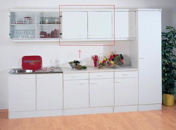 Küchenmöbel Stellen Sie im Handumdrehen eine eigene Küchenzeile - küchenschrank mit glastüren