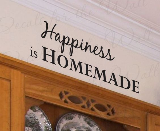 Happiness homemade kitchen kitchen dining room mom quote for Dining room quote decals