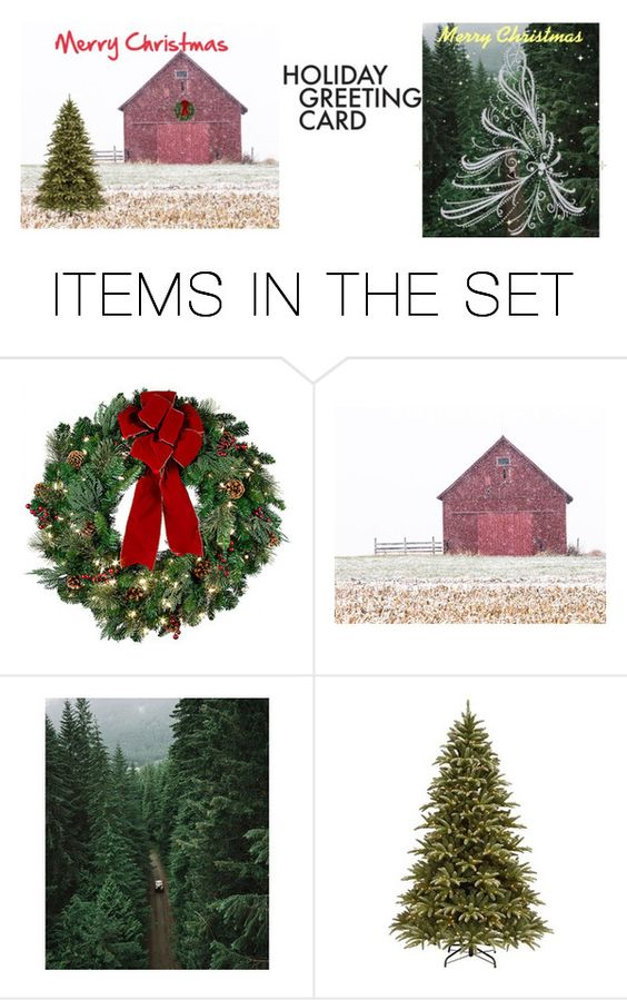 """""""Untitled #84"""" by michellebradham ❤ liked on Polyvore featuring art, holidaygreetingcard and PVStyleInsiders"""