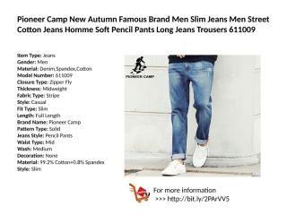 Item Type Jeans Gender Men Material Denim Spandex Cotton Model