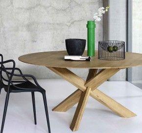 Houten ronde tafel hend pinterest - Grote ronde houten tafel ...