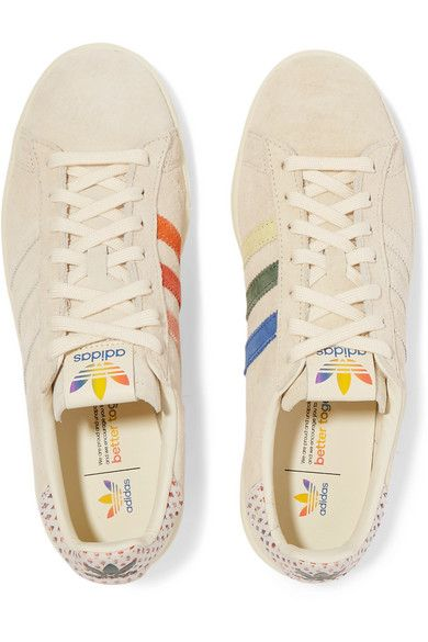 adidas Originals | Campus Pride canvas-trimmed suede ...