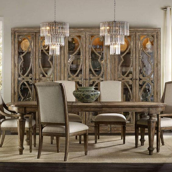 Hooker Furniture Solana Rectangular Extension Dining Table - Natural - Faceted, tapered legs and a spacious top ensure this Hooker Furniture Solana Rectangular Extension Dining Table - Natural will be the highlight of...
