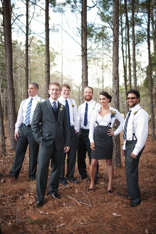5 Cute Coordinated Ways To Dress A Mixed Gender Wedding Party Photos Female Best Man
