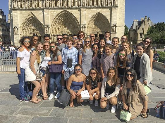 English teacher Bill Isham led a tour of Europe with SI students