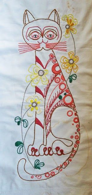 Embroidery cats pinterest cute kitty creativity and