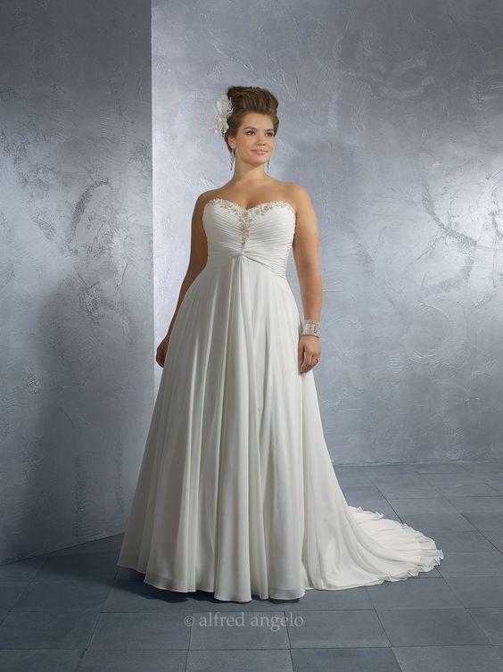 My fantasy wedding dress. Size18W-22W. Hopefully I can lose some ...