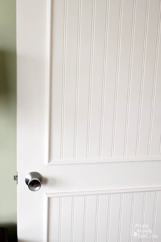 How to Add Panels to Flat Hollow Core Door | Pretty Handy Girl ...