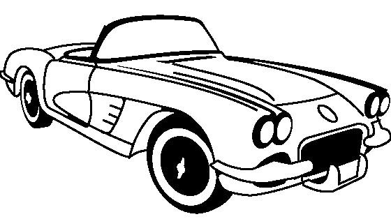 Corvette Classic Coloring Page   Corvette   Pinterest   Corvette ...