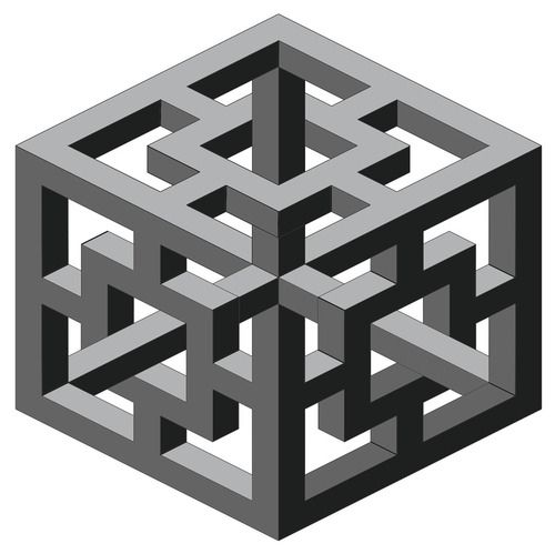 A great optical illusion figuras imposibles pinterest for Geometric illusion art