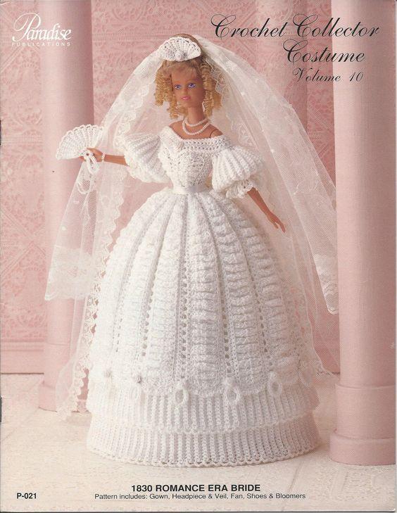 Crochet Pattern 1830 Romance Era Bride by KnitKnacksCreations