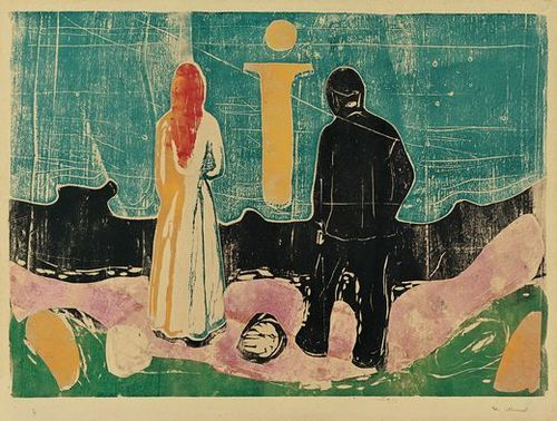 Resultat d'imatges de munch The Lonely Ones_1899