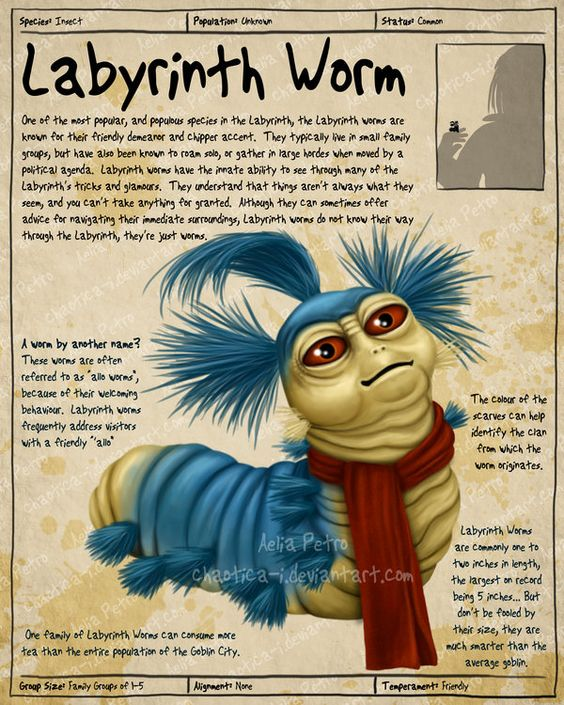 Labyrinth Guide - The Worm by =Chaotica-I on deviantART