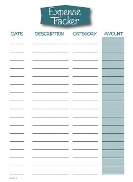 weekly spending tracker - Google Search | Printables/templates ...
