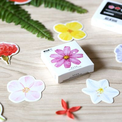 45 Pcs/box Cute Kawaii Flower Girl Papers Stickers Flakes Vintage Romantic Love For Diary Decoration Diy Scrapbooking Sticker