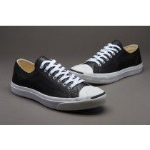 Converse Jack Purcell Leather Ox Sort Hvid 1S962