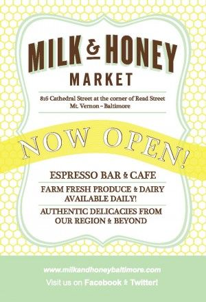 Milk & Honey Market Grand Opening Flyer from emily ames design