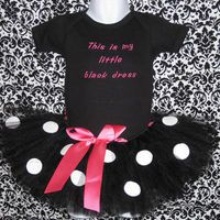 Little Black Dress Onesie with Tutu and Matching by Zobows on Etsy