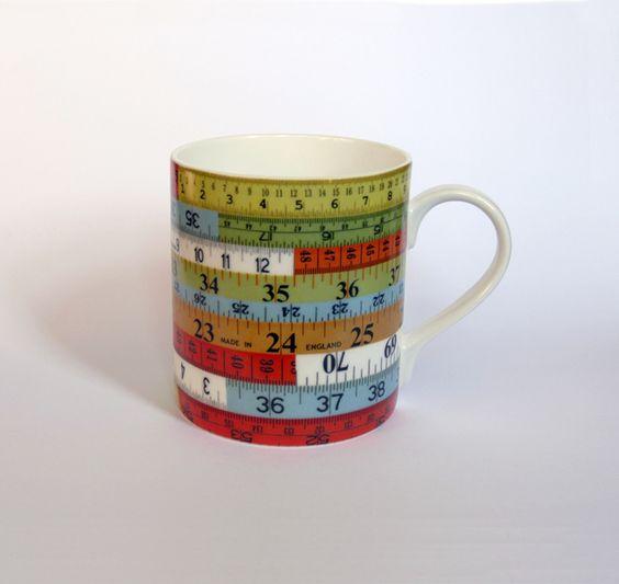 Coloured Tape Measure Design Ceramic Mug £8.50