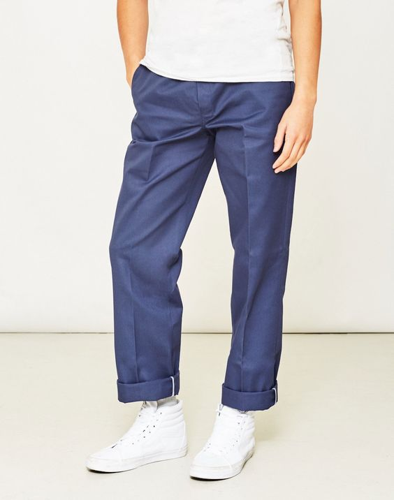 dickies mens light blue trousers