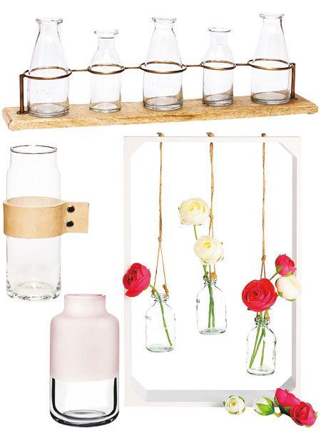 DIY-Blumendeko mit Rosen, Gerberas und Nelken