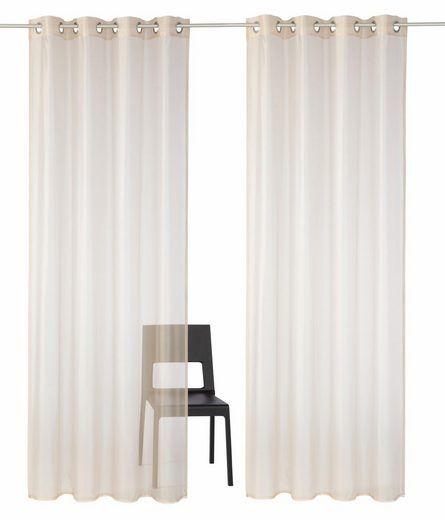 Gardine, Premium collection by home affaire, »Sistan«, mit Ösen (2 - gardinen fürs wohnzimmer